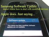 Your device has been modified. Software updates are not available.