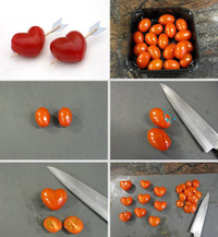 DIY - Red Hearts from Tomatoes