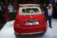 2016 Fiat 500 Cabrio Red - Rear View