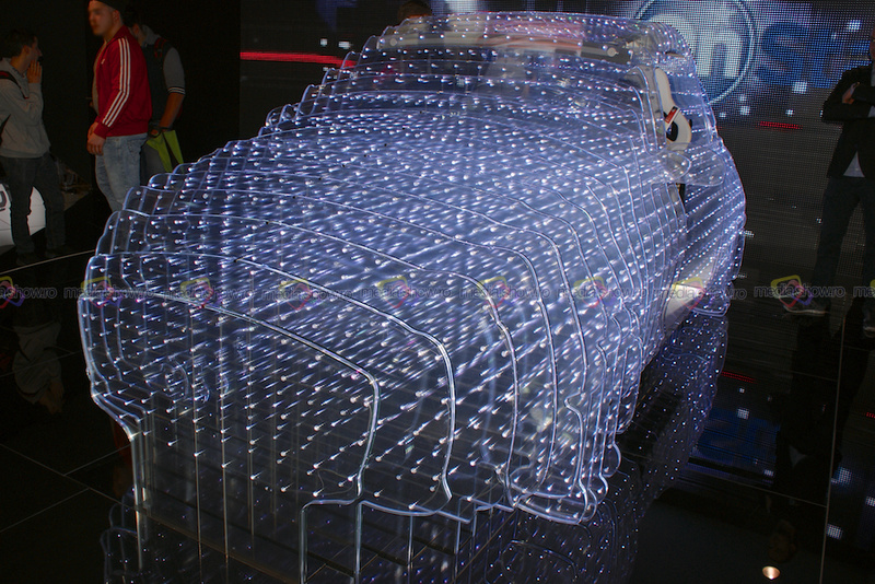 Opel Car made of Sliced Glass of Lights