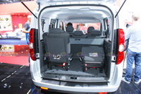 Opel Combo - Rear Door Opened with Extra Seats in the Trunk