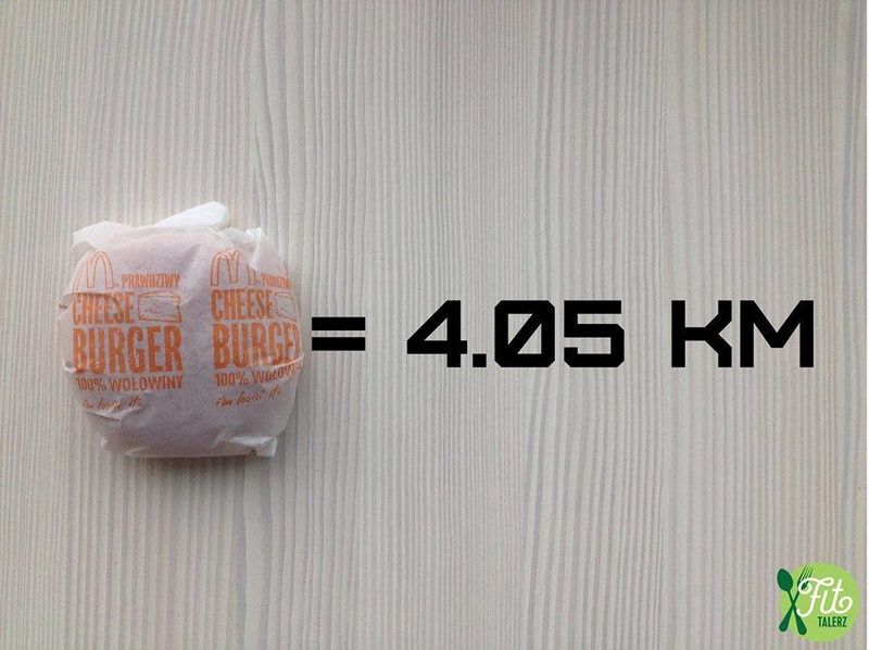 2016 - Fit Talerz - Cheese Burger equals 4.05km