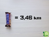2016 - Fit Talerz - Snickers equals 3.45km