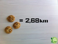 2016 - Fit Talerz - 3 cookies equals 2.68km