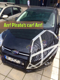 Arr! Pirate's car! Arr!