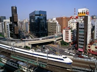 Bullet Train - Ginza District, Tokyo, Japan