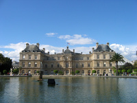 The Luxembourg Palace in Luxembourg Gardens