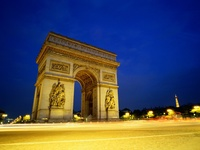 Arc de Triomphe at Night, Paris, France