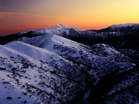 First Light on Mount Feathertop