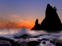 Rialto Beach at Sunset