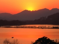 Sunset Over West Lake, Hangzhou, Zhejiang, China