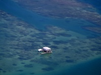 Aerial of a House in Stiltsville