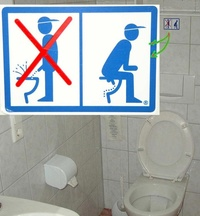 How to behave in wc